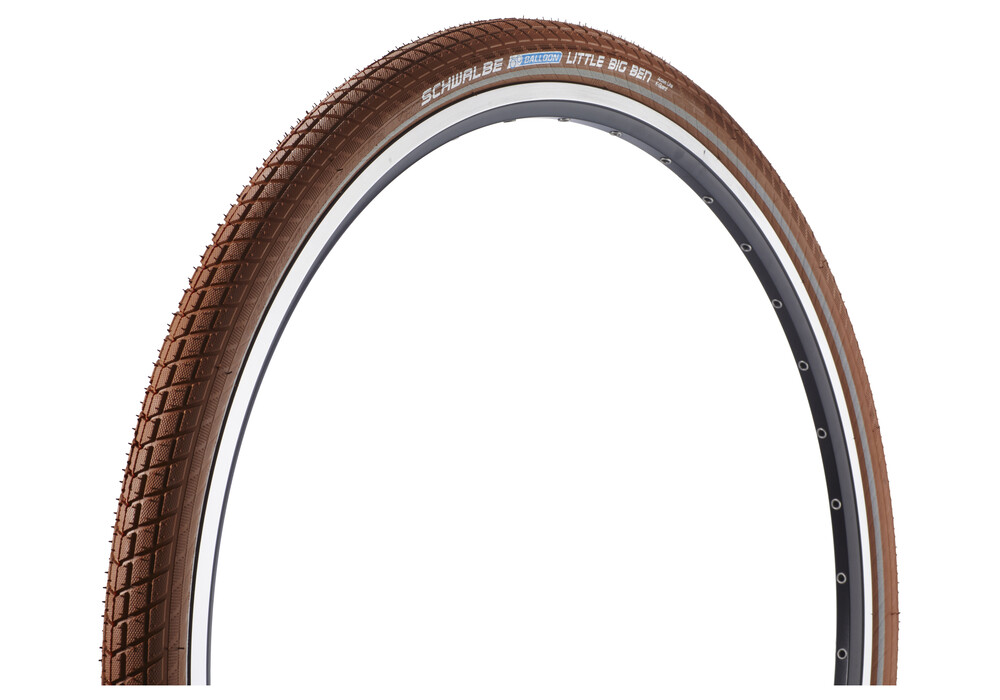 SCHWALBE Little Big Ben Bike Tire Active 28 Twin, wire bead brown at ...